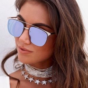 Quay Australia Private Eyes Blue Sunnies
